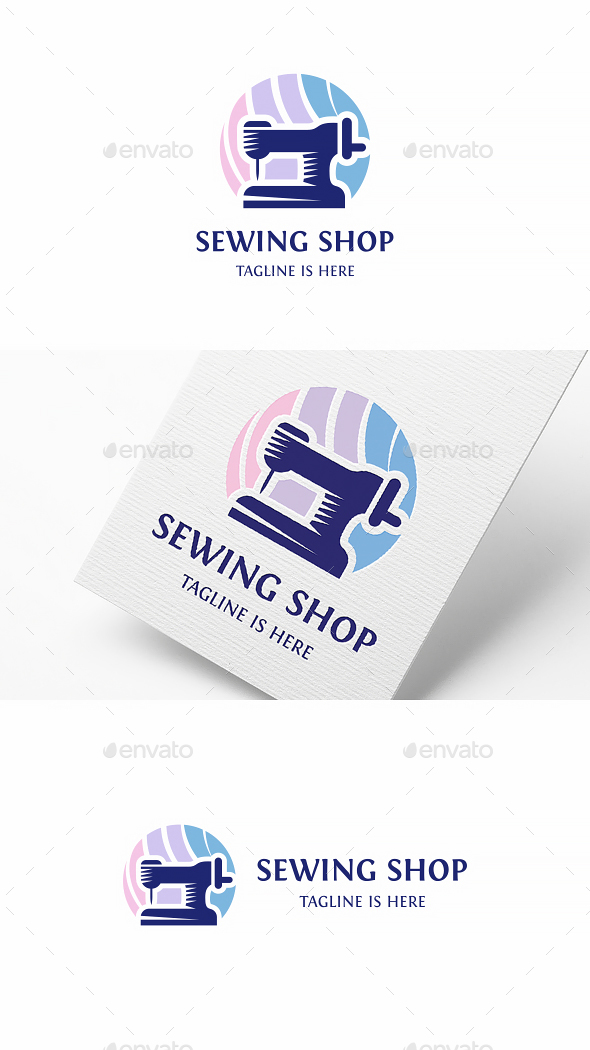 Sewing Shop Logo - Objects Logo Templates