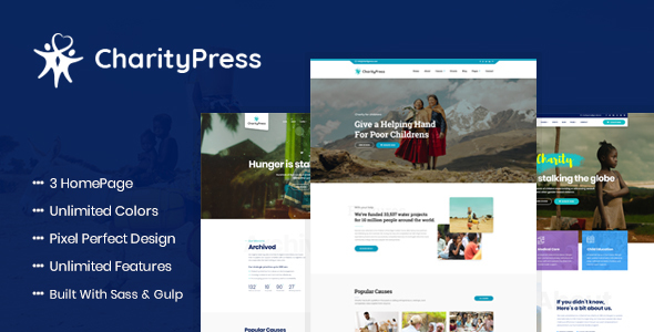 Image of CharityPress - Charity Fundraising HTML Template