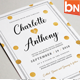 Polka dot Wedding Invitations - GraphicRiver Item for Sale
