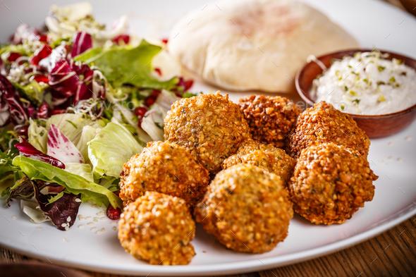Chickpea falafel balls - Stock Photo - Images