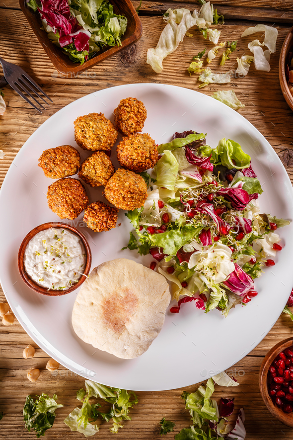 Chickpea falafel balls - Stock Photo - Images