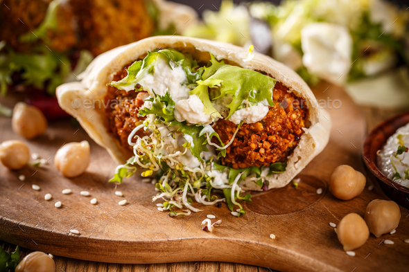 Delicious falafel snack - Stock Photo - Images