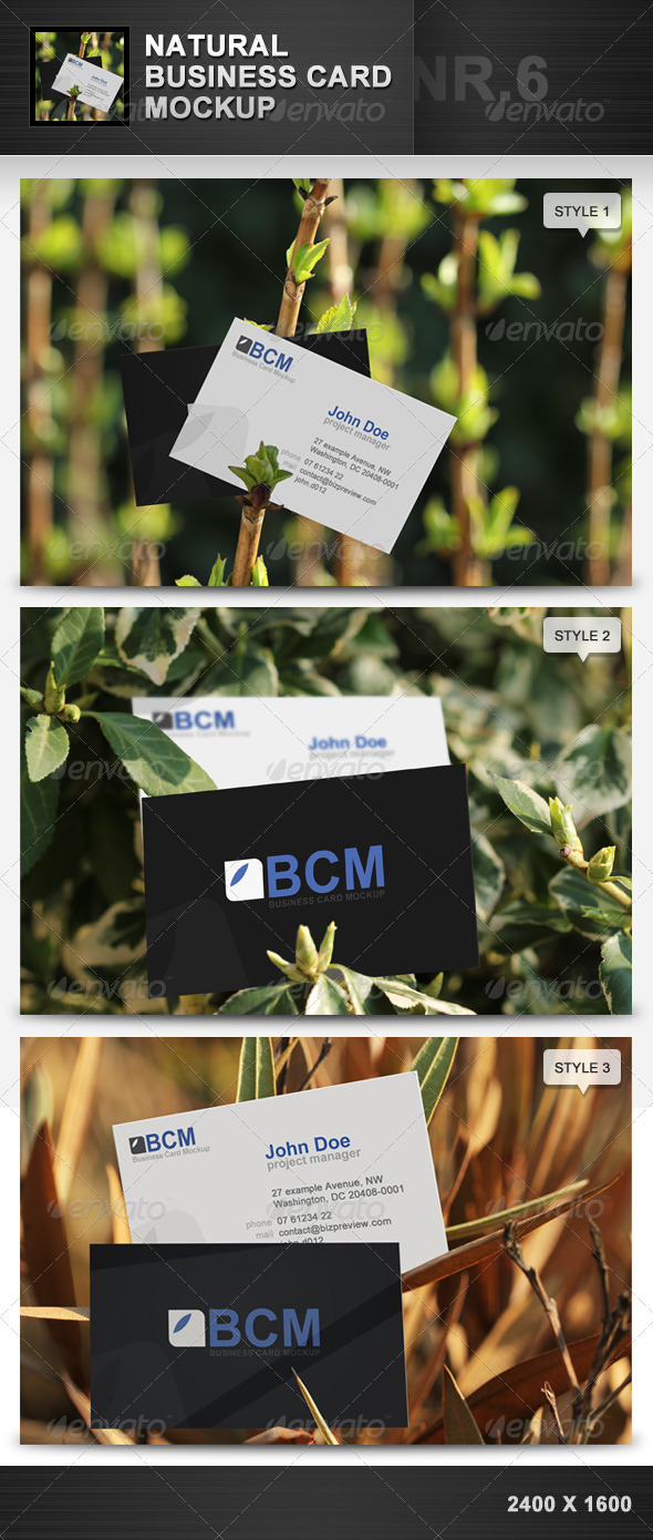 Natural Business Card Mockup 6 - Business Cards Print