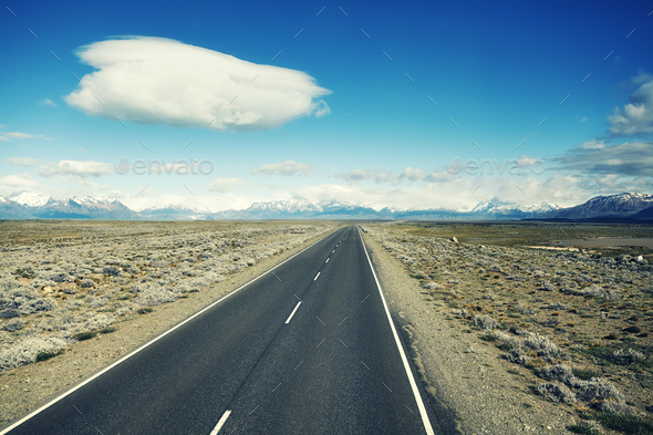 Road to the El Chalten, Argentina. - Stock Photo - Images