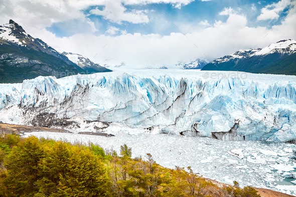 Perito Moreno Glacier, Argentina. - Stock Photo - Images