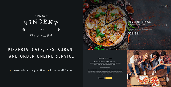 Pizza Cafe | Vincent Pizza Cafe HTML for Pizza Cafe - Food Retail