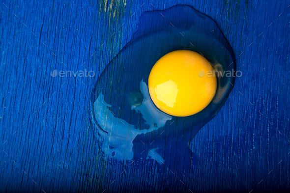 Broken egg. - Stock Photo - Images