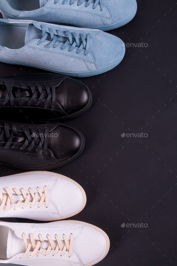 Two pair of sneakers shoes - Stock Photo - Images