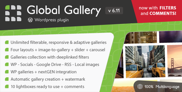 Global Gallery - Wordpress Responsive Gallery - CodeCanyon Item for Sale