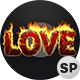 3D Love On Fire - VideoHive Item for Sale