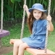 European Little Girl Playing Wooden Swing with Happiness. Asia, Bali. Indonesia - VideoHive Item for Sale