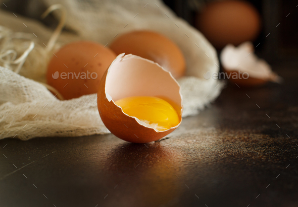 Сhicken eggs close up - Stock Photo - Images