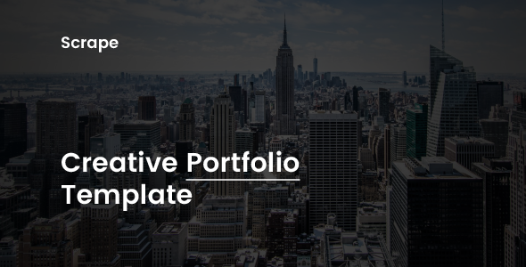 Image of Scrape - Creative Portfolio Template