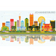 Johannesburg Skyline with Color Buildings, Blue Sky and Reflections. - GraphicRiver Item for Sale
