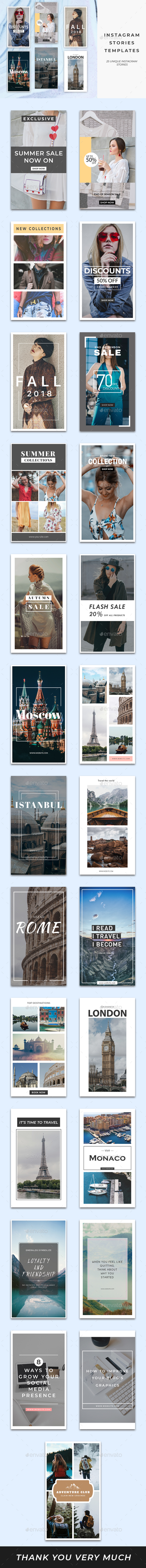 25 Instagram Stories Templates - Social Media Web Elements