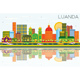 Luanda Angola Skyline with Color Buildings, Blue Sky and Reflections. - GraphicRiver Item for Sale