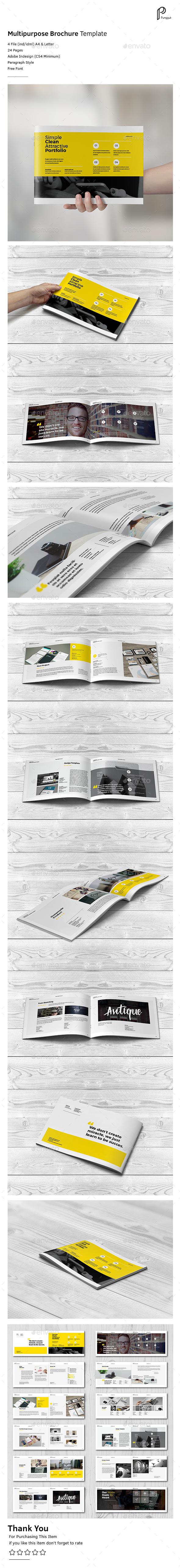 Clean Potrait Multipurpose Brochure Vol.2 (Landscape) - Portfolio Brochures
