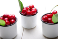 Cherry in enamel cup - PhotoDune Item for Sale