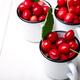 Cherry in enamel cup - PhotoDune Item for Sale