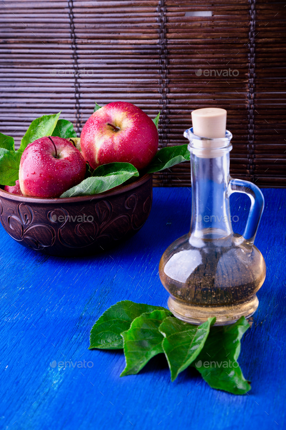 Apple cider vinegar. - Stock Photo - Images