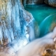 Freezing Waterfall and a Lake in a Cave in Winter - VideoHive Item for Sale