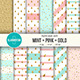 Mint-Pink-Gold Digital Paper Pack - GraphicRiver Item for Sale