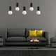 Black and gray living room - PhotoDune Item for Sale