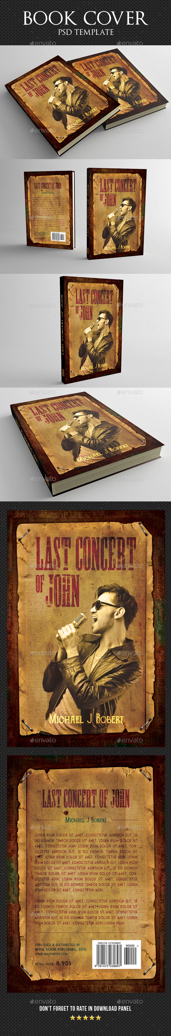 Book Cover Template 42 - Miscellaneous Print Templates