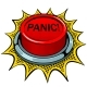 Panic Red Button Pop Art Vector Illustration