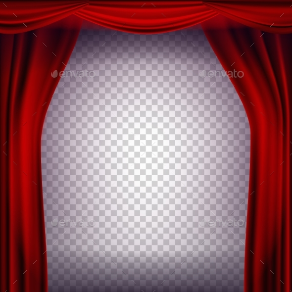 Red Theater Curtain Vector - Miscellaneous Vectors