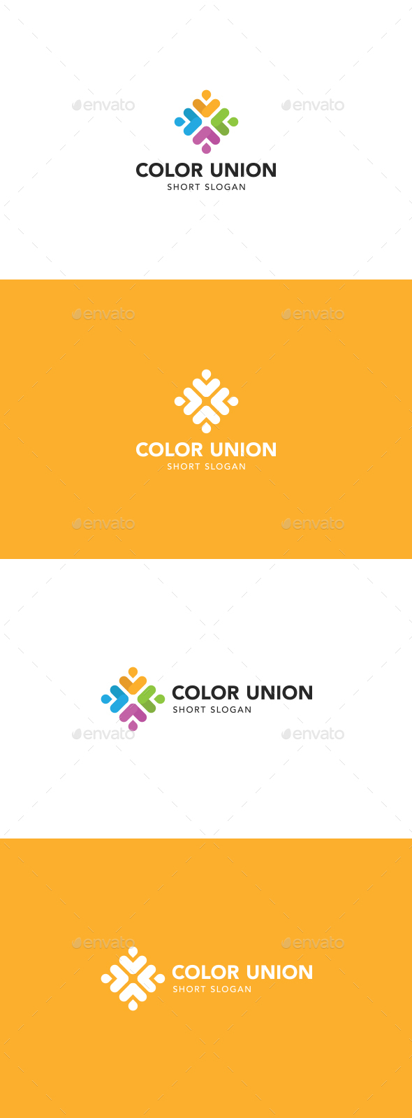 Color Union Logo - Abstract Logo Templates