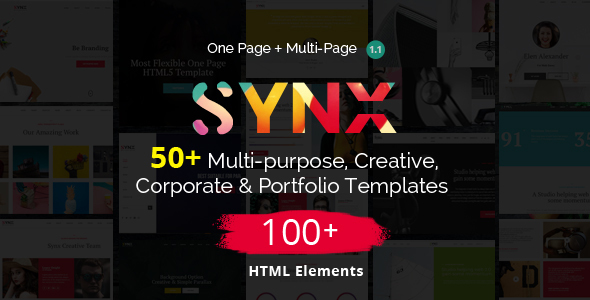 Image of Synx - One Page Parallax