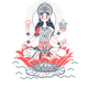 Icon Godess Laxmi Lotus - GraphicRiver Item for Sale