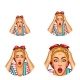 Vector Pop Art Avatar of Shocked Blonde - GraphicRiver Item for Sale