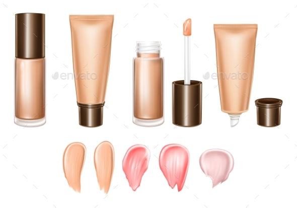Vector 3D Realistic Set of Lipsticks - Miscellaneous Vectors
