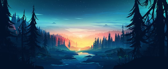 Colorful wood river 3840x2160