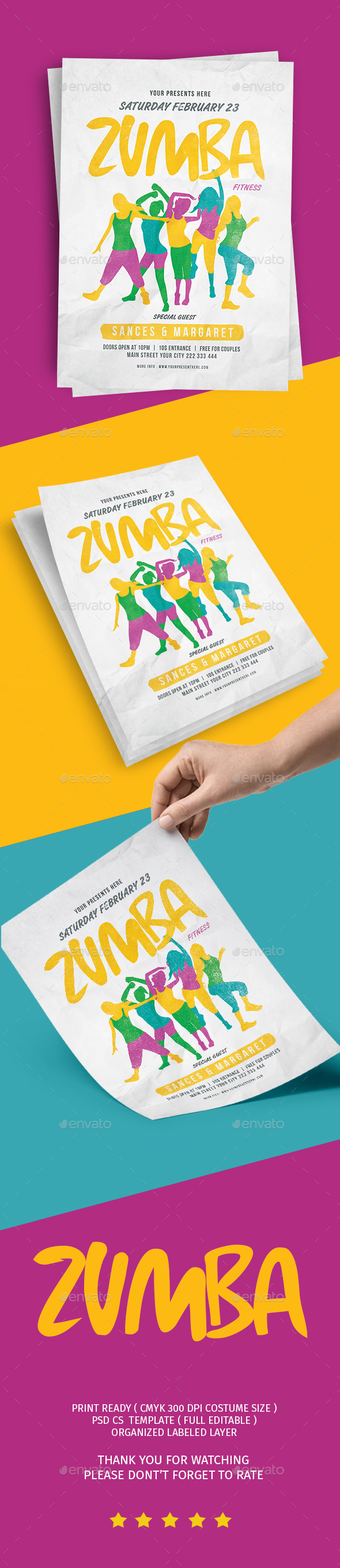 Zumba Party Flyer Vol.2 - Flyers Print Templates