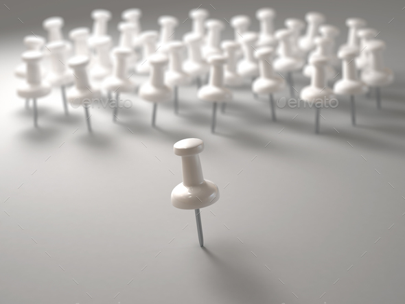 Pin Leadership Position - Stock Photo - Images