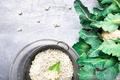 Cauliflower rice in metal bowl - PhotoDune Item for Sale