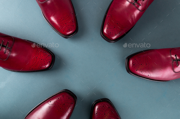 Red oxford shoes - Stock Photo - Images