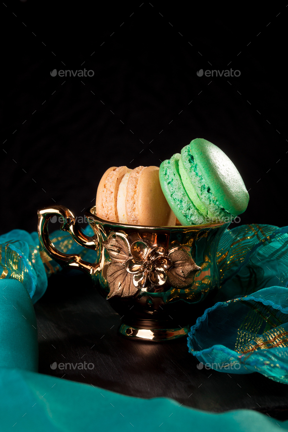 Tower of macarons - Stock Photo - Images