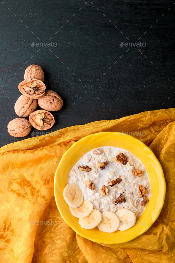 Healthy breakfast with cereal flakes - Stock Photo - Images