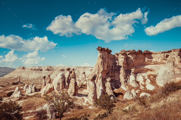 Rocks formations in Turkey - Stock Photo - Images