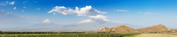 Khor Virap and Mount Ararat - Stock Photo - Images