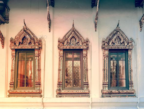 Window background in Royal King Palace, Bangkok - Stock Photo - Images