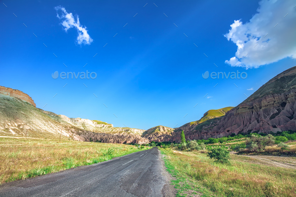 Beautiful landscape in Cappadocia - Stock Photo - Images