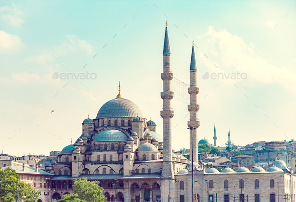 New Mosque Istanbul - Stock Photo - Images