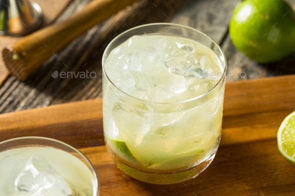 Homemade Brazilian Caipirinha Cocktails - Stock Photo - Images