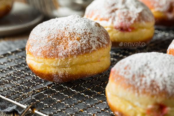 Gourmet Homemade Polish Paczki Donuts - Stock Photo - Images