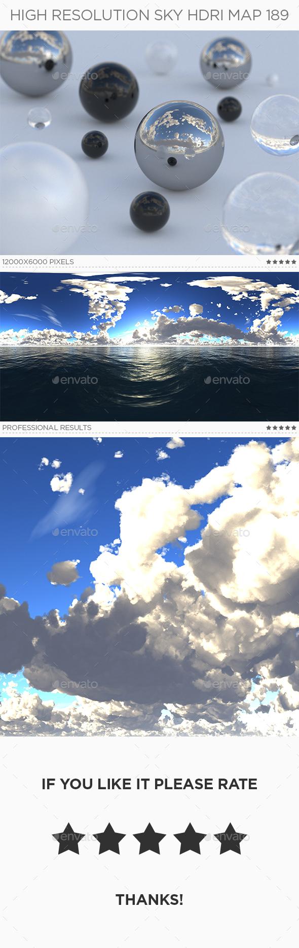 High Resolution Sky HDRi Map 189 - 3DOcean Item for Sale